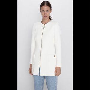Zara Gold Zippered Coat